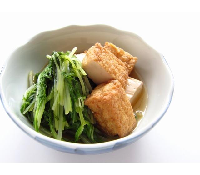 水菜 厚揚げ レシピ